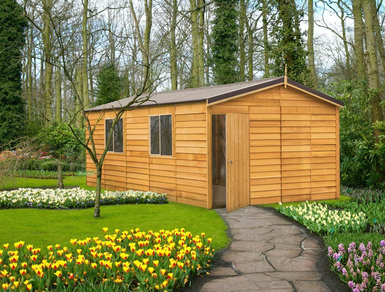 cedar shed macedon deluxe 3 8mx6 0m sydney garden products