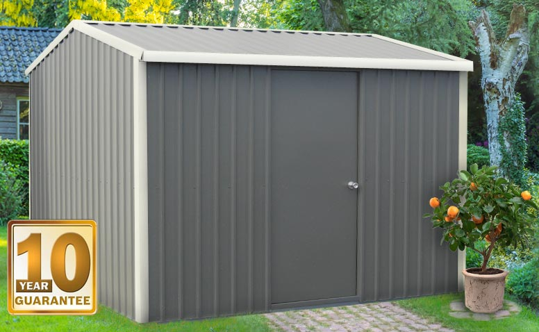 Our heavy duty, steel garden shed