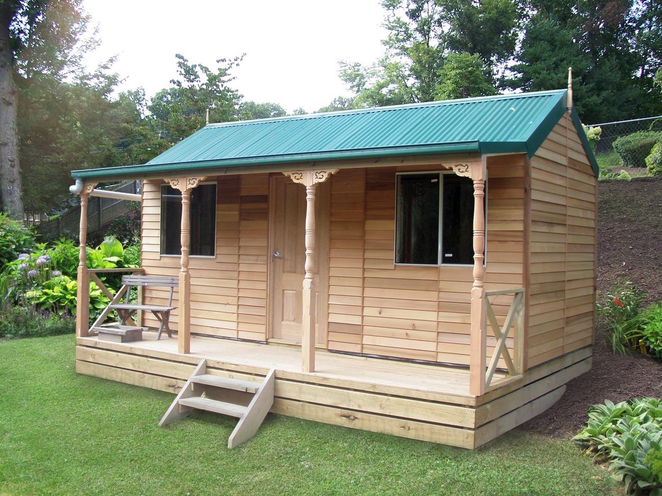 cedar settlers hut 5 4mx2 6m sydney garden products