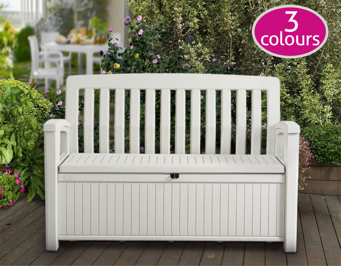 keter patio storage bench 227 sydney garden products. Black Bedroom Furniture Sets. Home Design Ideas
