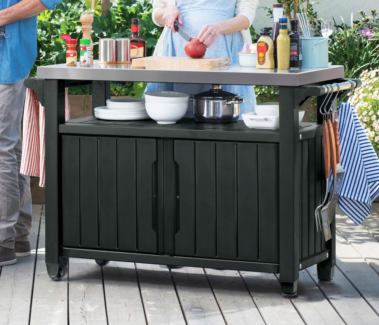 Keter Unity Bbq Storage Work Table 393 Sydney Garden Products